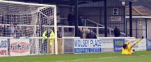 Moses\'s shot hits the net