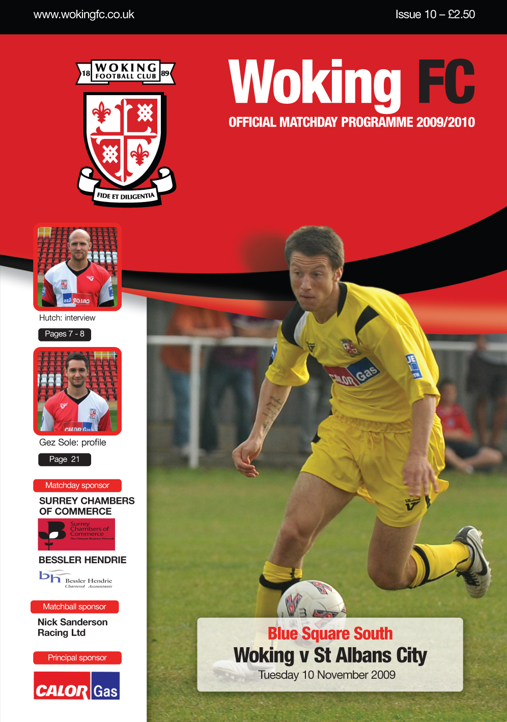 Tuesday's matchday programme