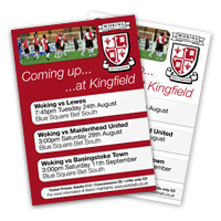 Help Advertise Woking FC