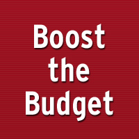 Boost the Budget – important update!