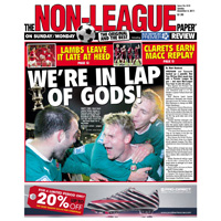 Cards coverage on Sunday in The Non-League Paper
