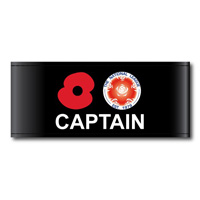 Captain's Armband auctioned off for Poppy Appeal