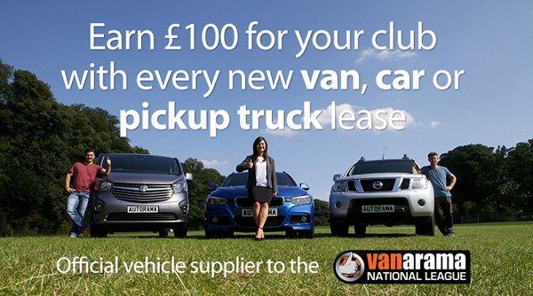 Earn your club £100 with Vanarama
