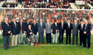 Heroes of 1966 officially opening the Leslie Gosden Stand against Swindon
