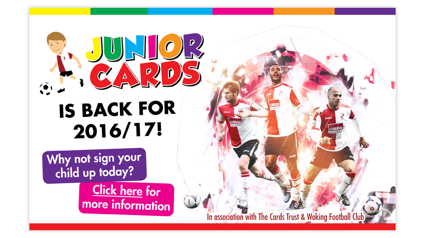 Junior Cards is back for 2016-17