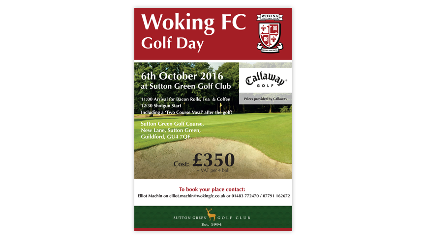 Woking FC Golf Day