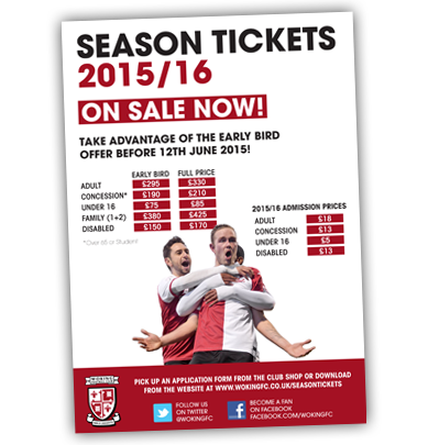 2015/16 Season Tickets on sale now!