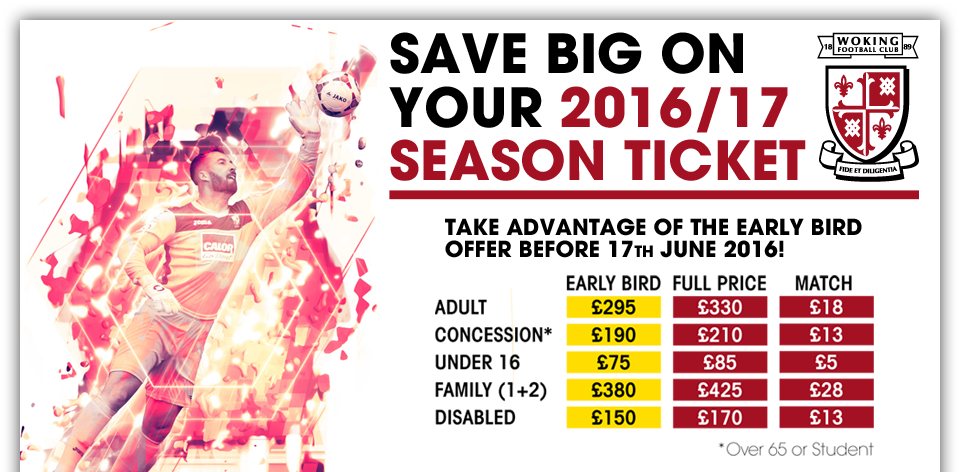Save Big on Your 2016/17 Season Ticket
