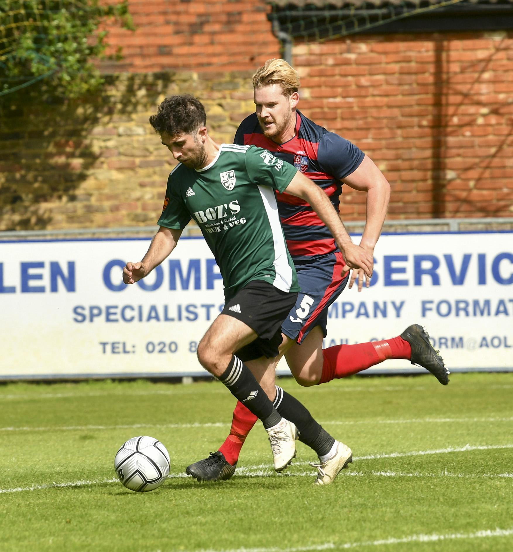 Max Kretzschmar drives towards goal