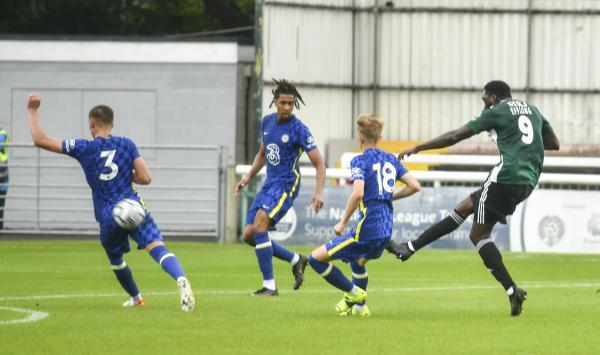 He shoots, he scores. Inih Effiong with the winner